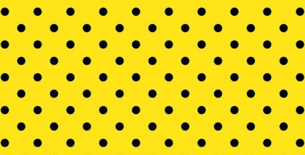 Lençol - Poá Amarelo com Preto