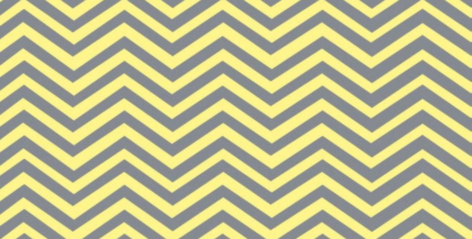 Lençol - Chevron Amarelo e Cinza