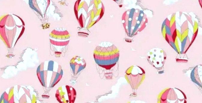Lençol - Balões Estampados Rosa