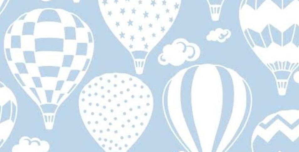 Ninho Baby - Balão Branco com Azul