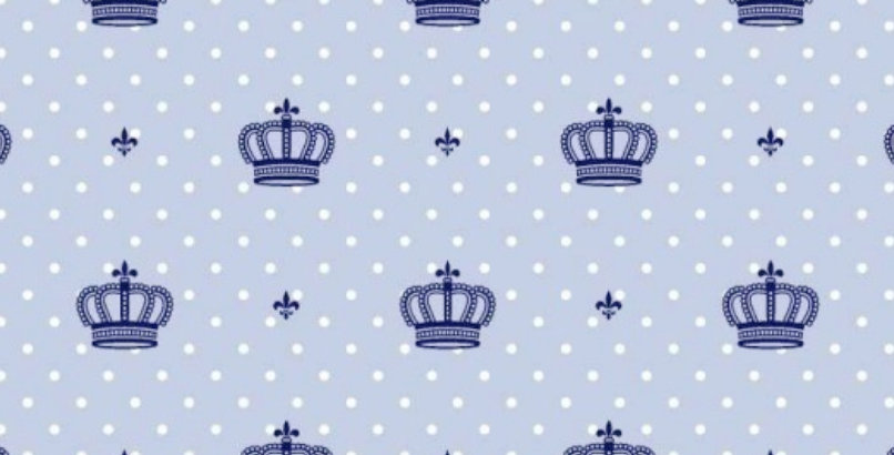 Lençol - Coroa Azul