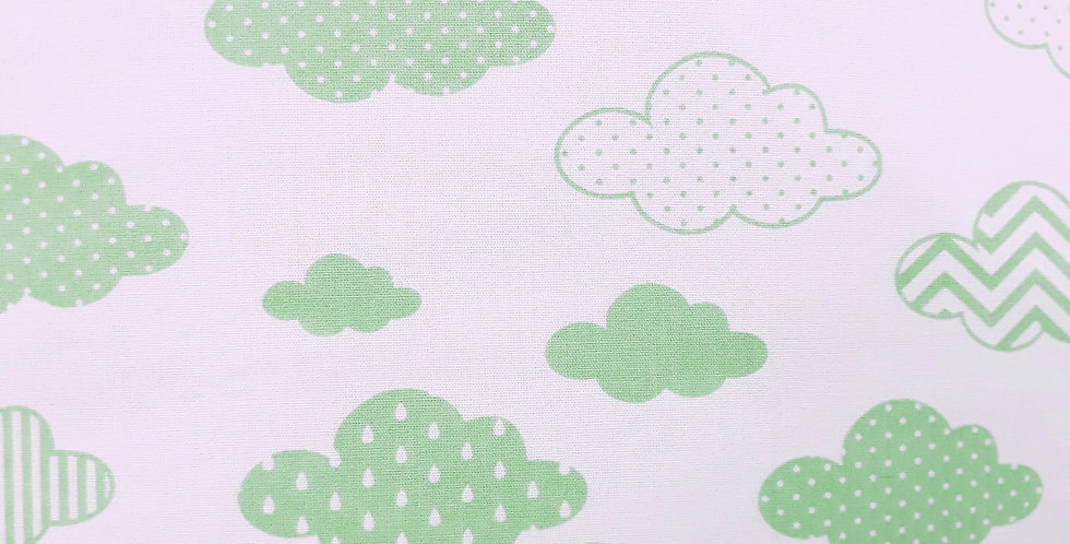 Lençol - Nuvem Estampada Verde