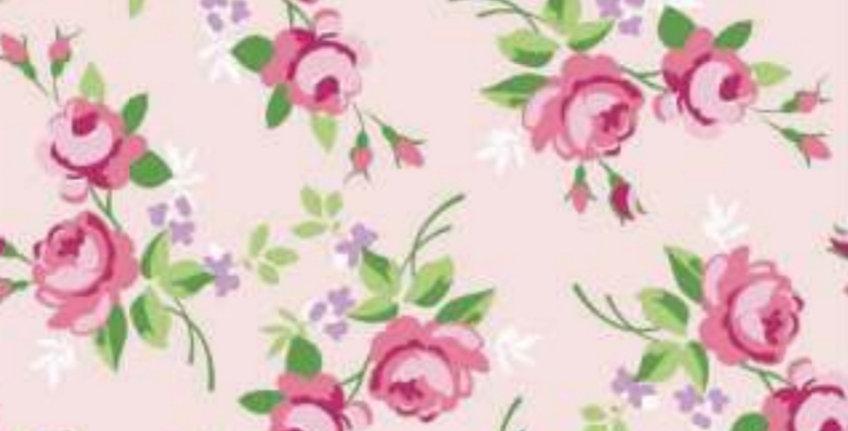 Lençol - Floral Rosa