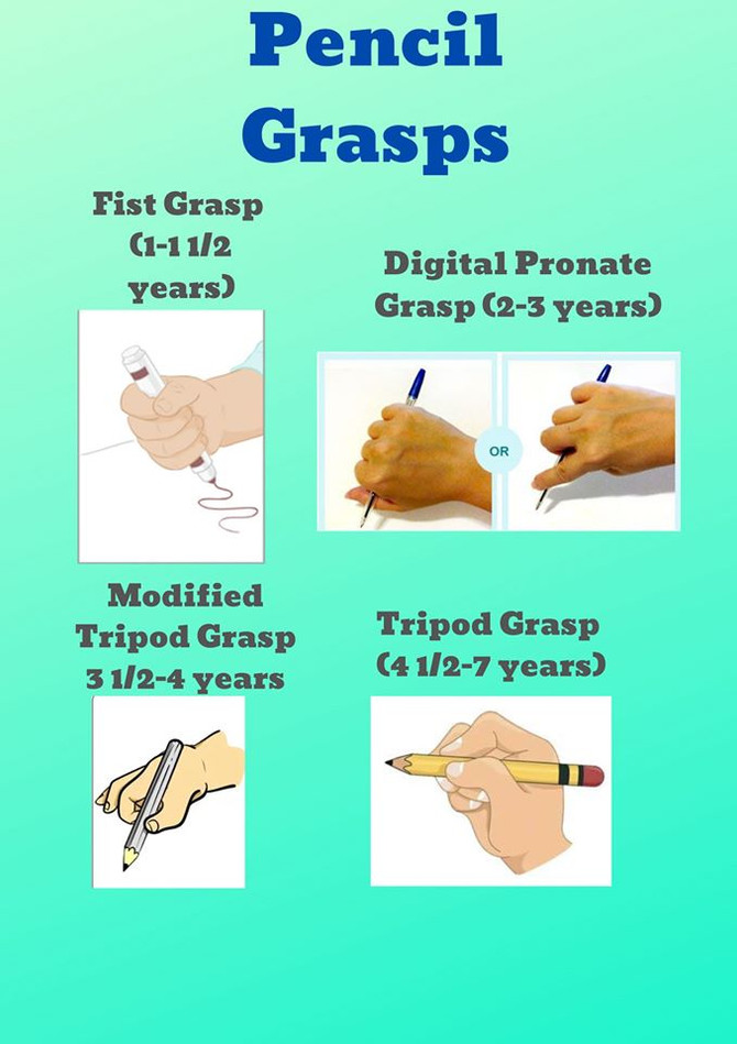 Pencil grasp - Occupational Therapy
