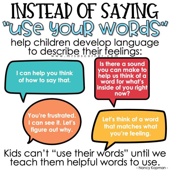 Emotional vocabulary and regulation - Psychology