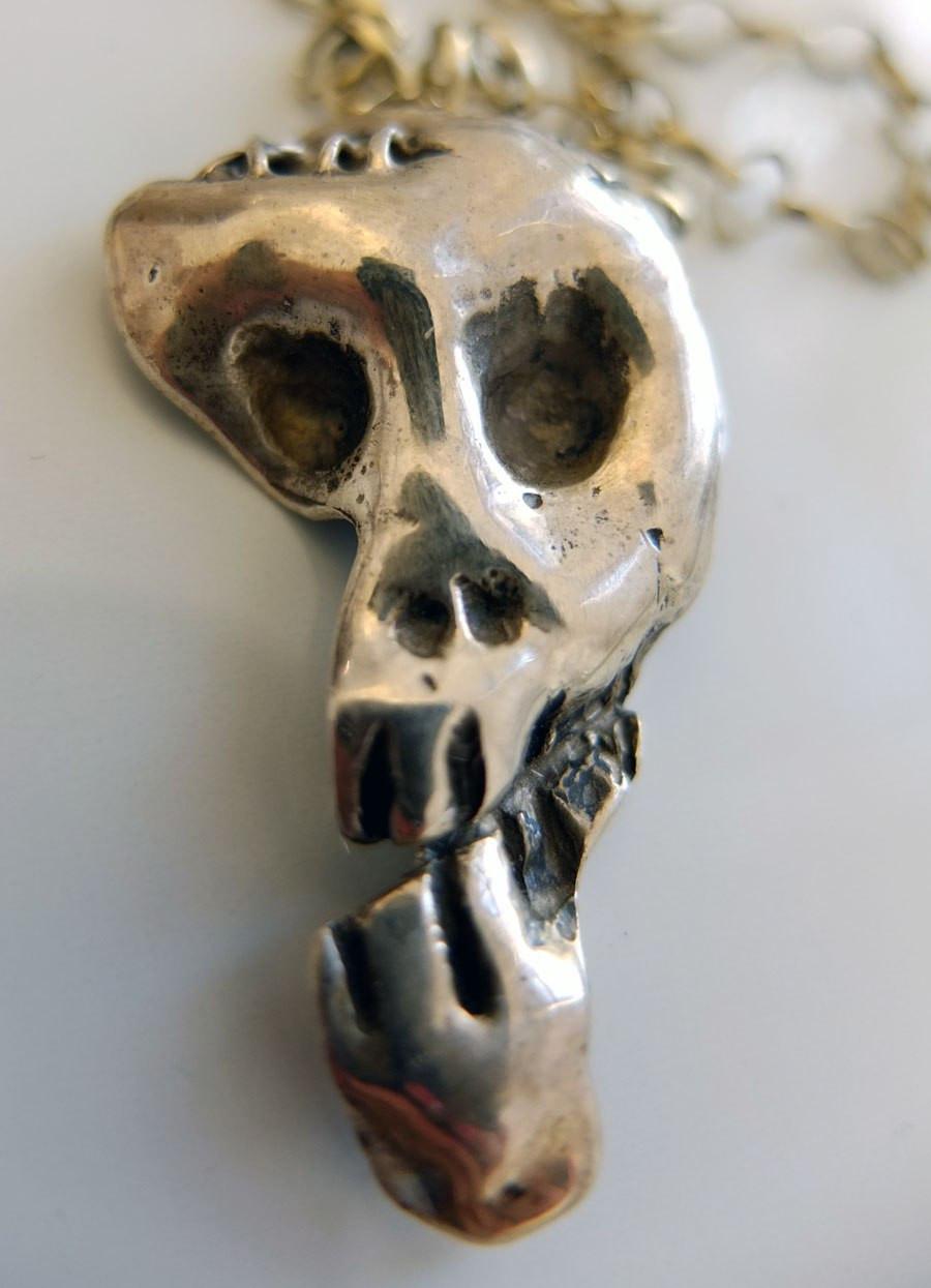 Ape skull in silver 2010