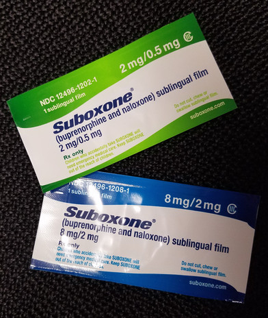 Suboxone strip boxes from a Maryland suboxone clinic