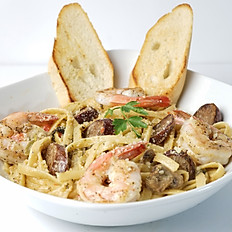 Cajun Shrimp & Andouille Sausage in a Cajun Cream Sauce