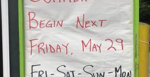 Summer Hours Begin 5/29/2020