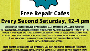 Free Repair Cafe every 2nd Saturday!