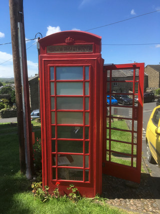 Summer in Upper Settle 2018. Outside of the phone box.