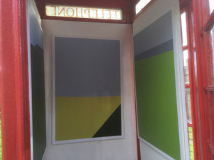 Inside the phone box.