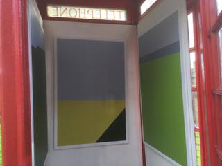 Inside the phone box.
