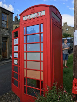 Summer in Upper Settle 2019. Outside of the phone box.