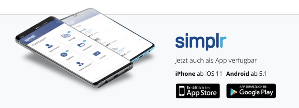 simplr app, versicherungsapp, versicherung app, digitaler versicherungsordner