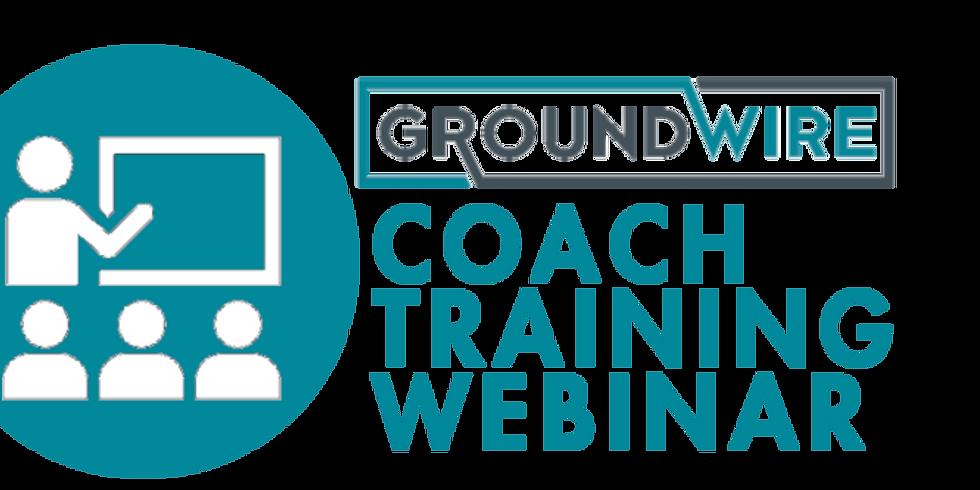Groundwire Coach Training Webinar