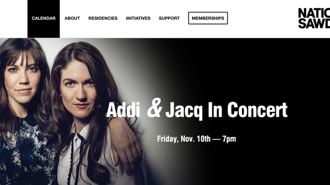A & J make their National Sawdust debut on 11/10