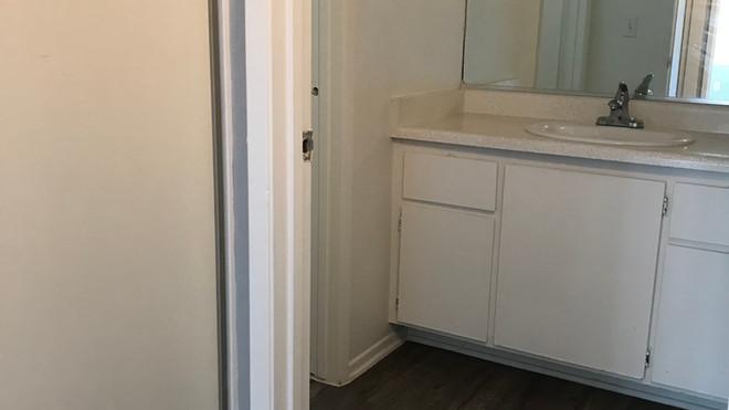 Upstairs 1+1 bathroom sink - 700 sq.ft.