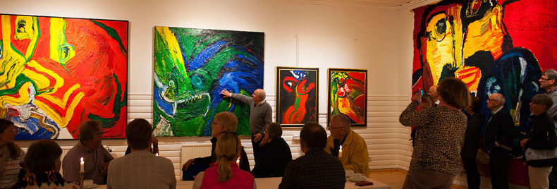 Visitors at the preview in Storsjö kapell 2017, foto © Pekka Ronkainen.