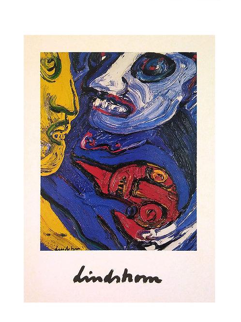 "Konstkort 10 st, A6, motiv ""Familjen"", 1983"