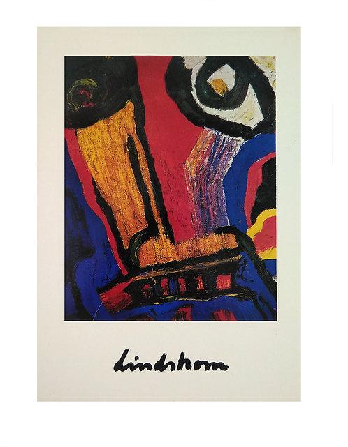 "Konstkort 5 st, A5, motiv ""Loke"", 1983"