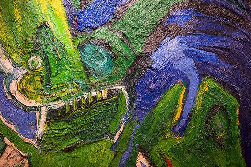 """Bengt Lindström Art Work """"Biegga Galles""""  Oil painting 2 x 2 meters foto © Pekka Ronkainen"""