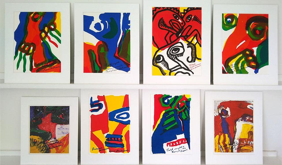 Litografipaket 8: Åtta litografier ur serien Nyårshälsning