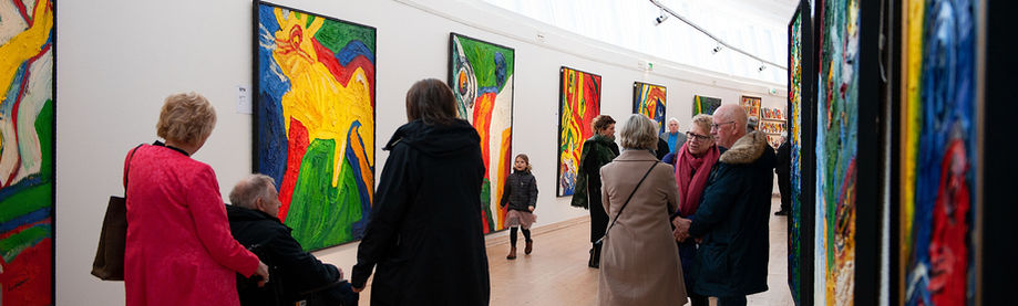 Bengt Lindström Art Exhibition 23 - 25 March 2018 Midlanda Airport, Timrå @ Curt Aspelin photo © Pekka Ronkainen