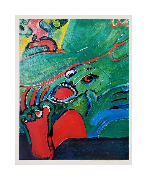 "Konstkort 1 st, motiv ""La Chute"", 1973"