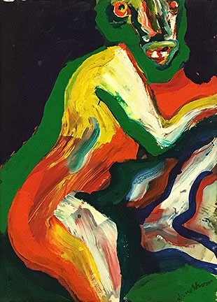 "Bengt Lindström, acrylic from the series: ""The Girls on the Champs Elysées"" © Curt Aspelin"