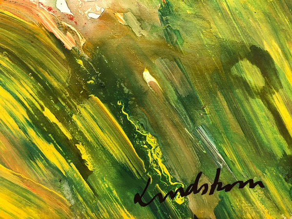"""Bengt Lindström, acrylic, from the serie: """"The Girls at Champs Elysees"""", detail nr 020, © Curt-Aspelin"""