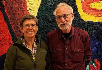 Karin Qwarnström och Bengt Gustfsson visited the preview in Storsjö kapell 2017, foto © Pekka Ronkainen.