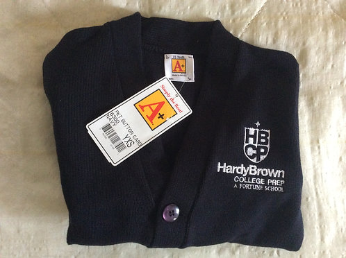Hardy Brown College Prep Navy Cardigan