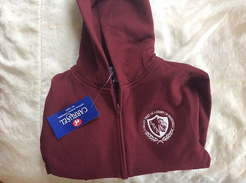 Savant Prep Academy Burgandy Full Zip Sweatshirt