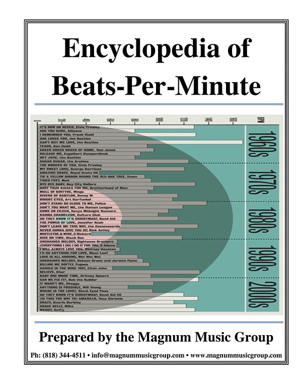 Encyclopedia of Beats Per Minute