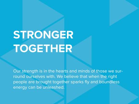 STRT Values - Stronger Together.