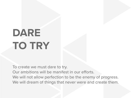 STRT Values - Dare to Try.