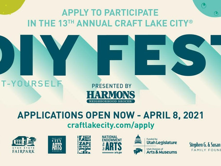 Craft Lake City - DIY Festival - Applications open until April 8th