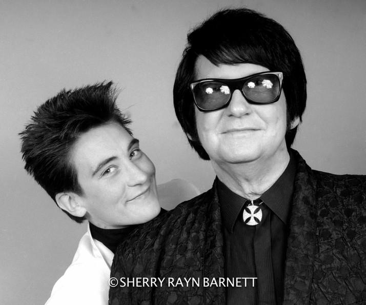 "k.d. Lang & Roy Orbison 1987, ""Top of The Pops"", Hollywood, CA"