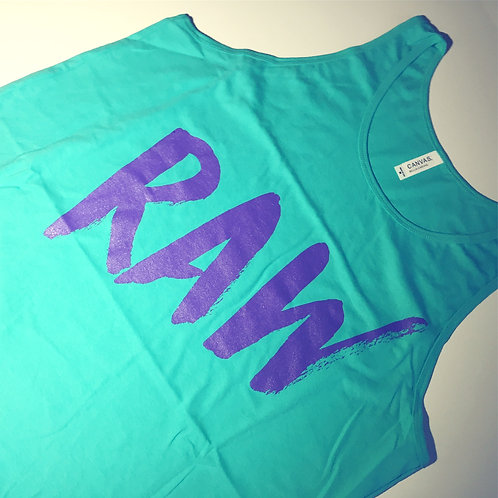 90's Tank - Teal/Purple Blast