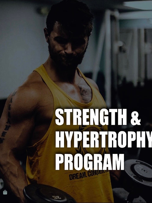 8 Week Hypertrophy Program