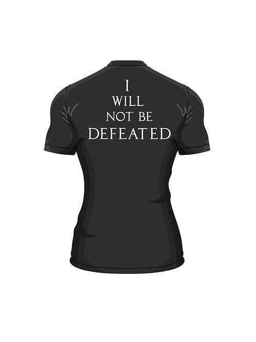 """""""I Will Not Be Defeated"""" Fitted T"""