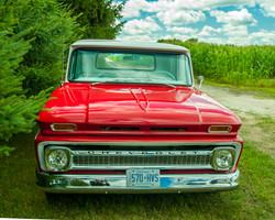# - 553 - Red & White Chev Pickup