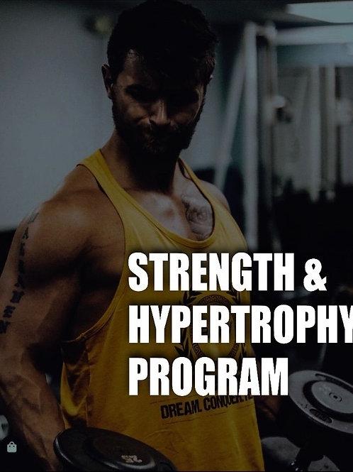 8 Week Strength and Hypertrophy Program