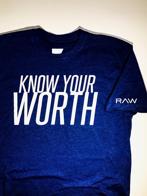 """Know Your Worth"" Fitted T."