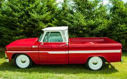 # - 556 - Red & White Chev Pickup