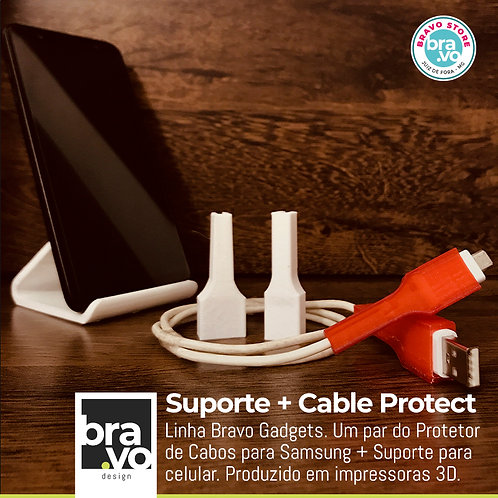 Suporte + Cable Protect - Samsung