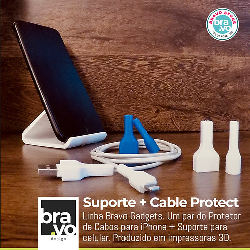 Suporte + Cable Protect - Apple