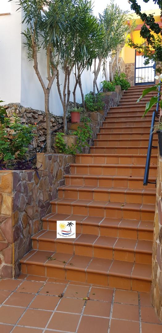 El Olivar - Entrance via the steps