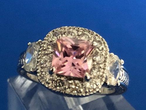 Pink Princess Halo Ring